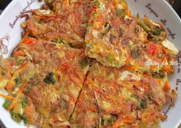 Vegetable Omelette (Telur Dadar Sayur)