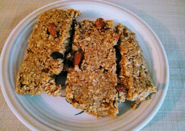 Recipe of Homemade Easy muesli and peanut butter breakfast bars