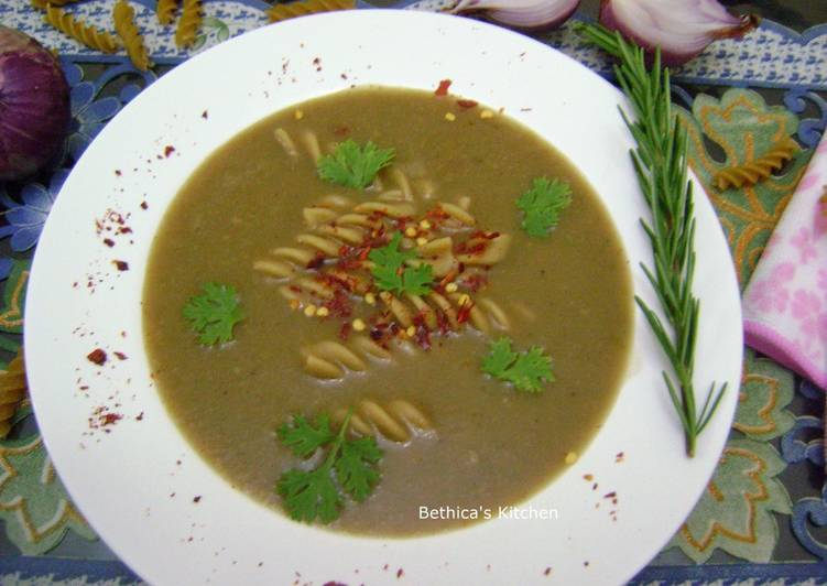 Easiest Way to Make Homemade Onion Pasta Soup
