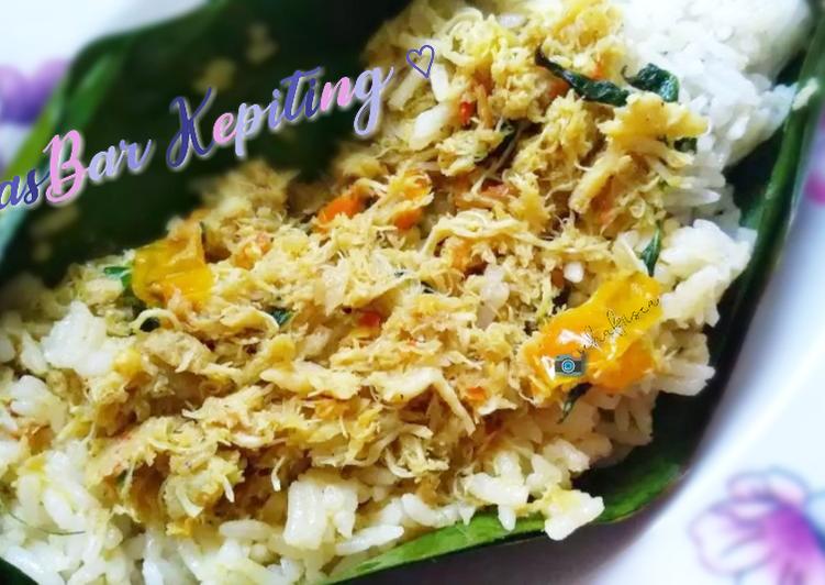 resep nasi bakar nasbar daging kepiting oleh icha friska amelia cookpad resep nasi bakar nasbar daging