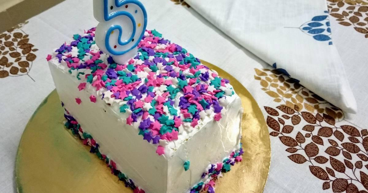 Fantastic Hidden Star Birthday Cake Recipe By Shrabani Acharya Chakraborty Personalised Birthday Cards Veneteletsinfo