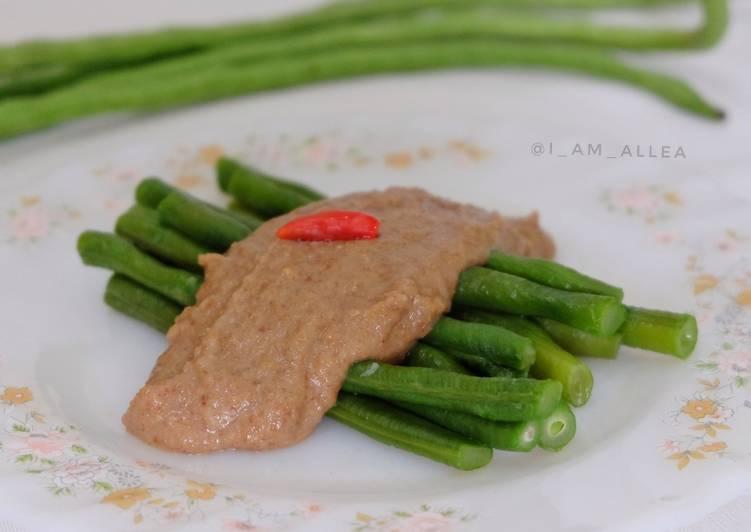 Kacang Panjang + Saus Kacang (Simpel dan Praktis)
