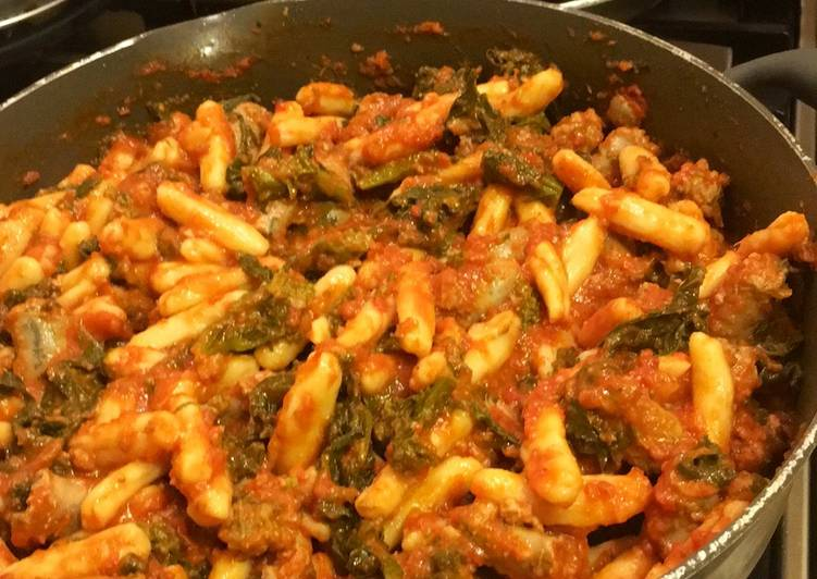 Ricotta Cavatelli with Sausage and Broccoli Rabe