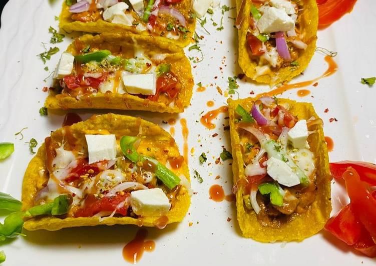 Homemade vegan tacos