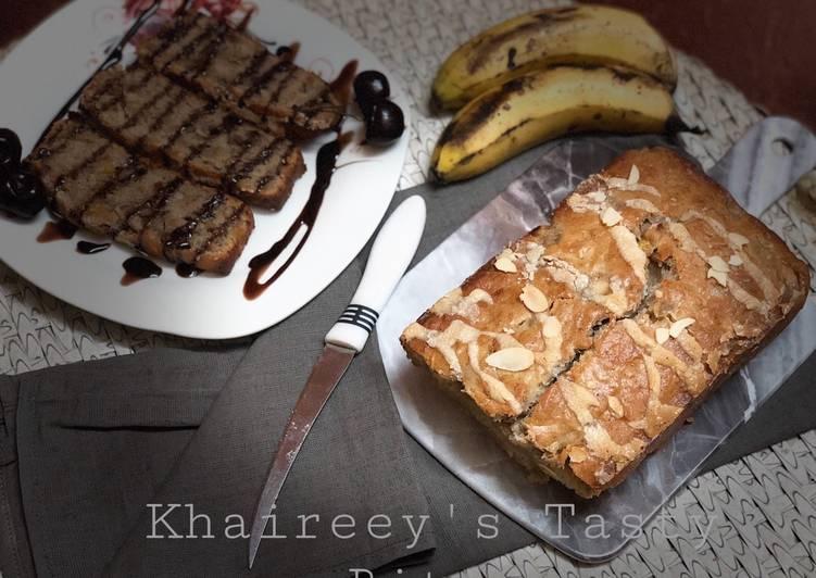 Banana, peach, and almonds Bread