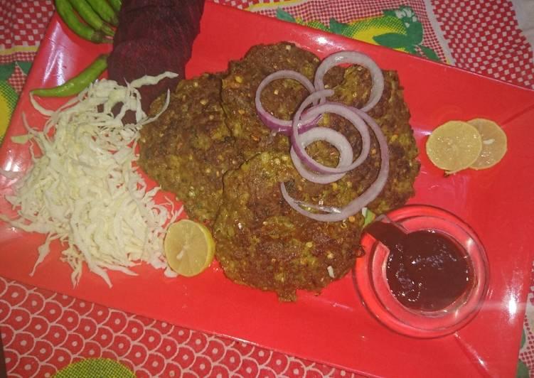 Mutton Chapli kabab - Laurie G Edwards