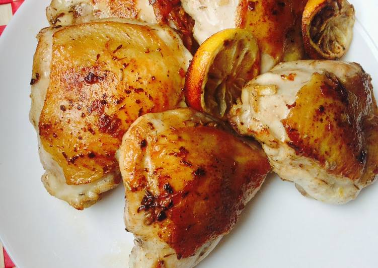Lemon Thyme Chicken & Mashed Squash