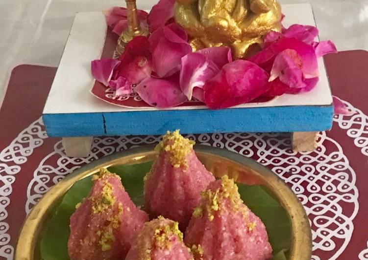 Coconut rose modak