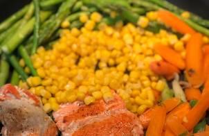 Cá hồi áp chảo với sốt cam mật ong