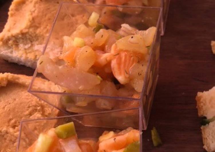 Recette Savoureux Tartare saumon daurade 🐟