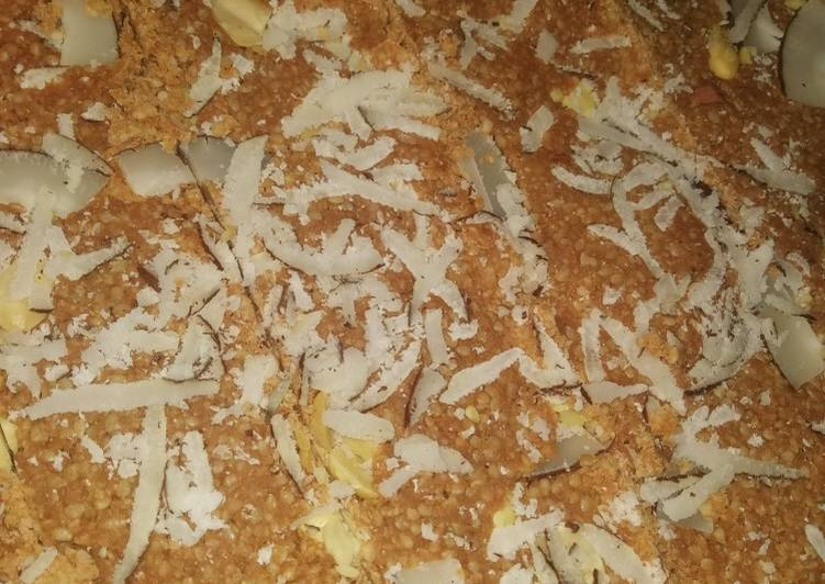 How to Make Top-Rated Til jaggery barfi