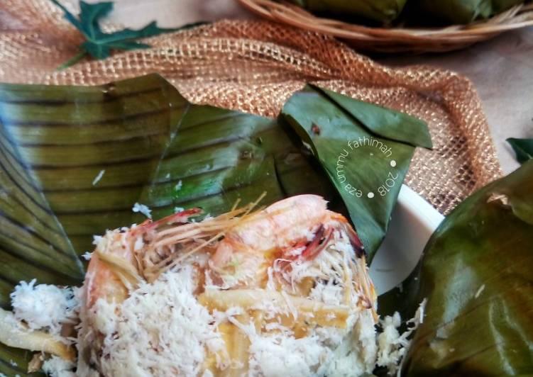 Bothok Teri Udang (Menu Batita, Menu Balita)