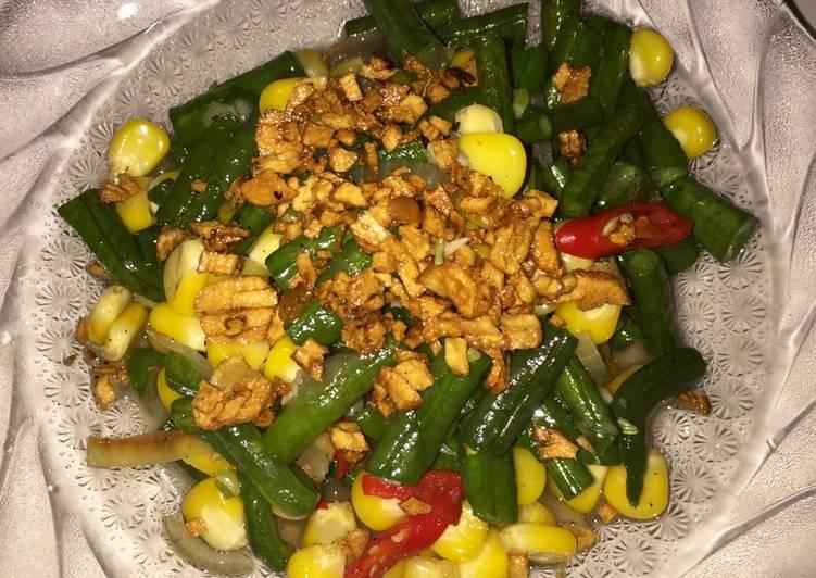 Simple ! Tumis kacang panjang bawang putih