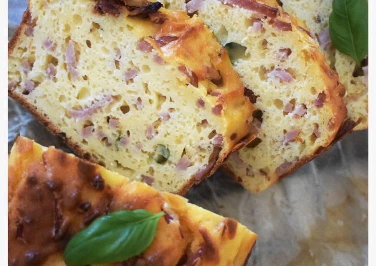 Cake à la ricotta tomates séchées jambon et basilic