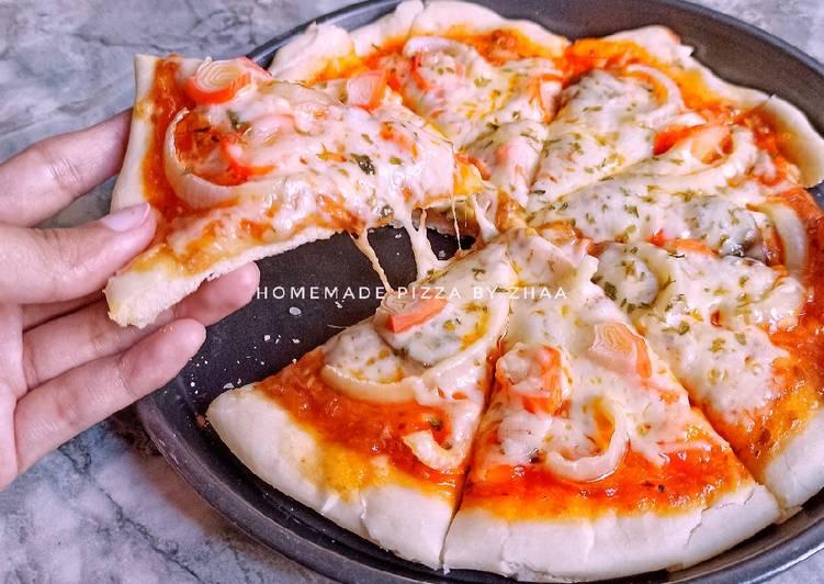 Homemade Seafood Pizza
