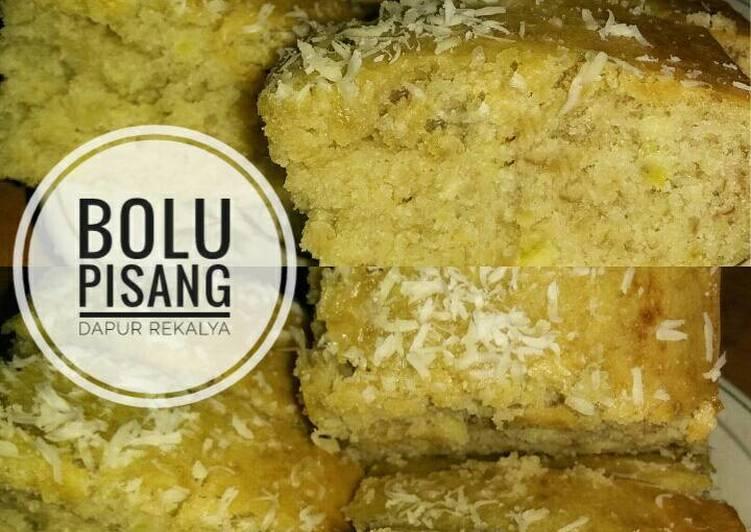 resep bikin BOLU PISANG IRIT (1 egg,No mixer, Anti gagal) by Dapur Rekalya - Sajian Dapur Bunda