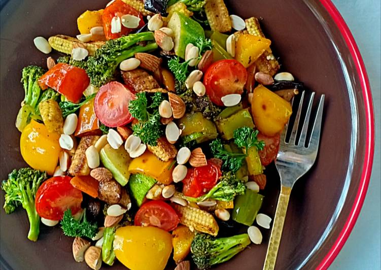 Grilled nutty ratatouille