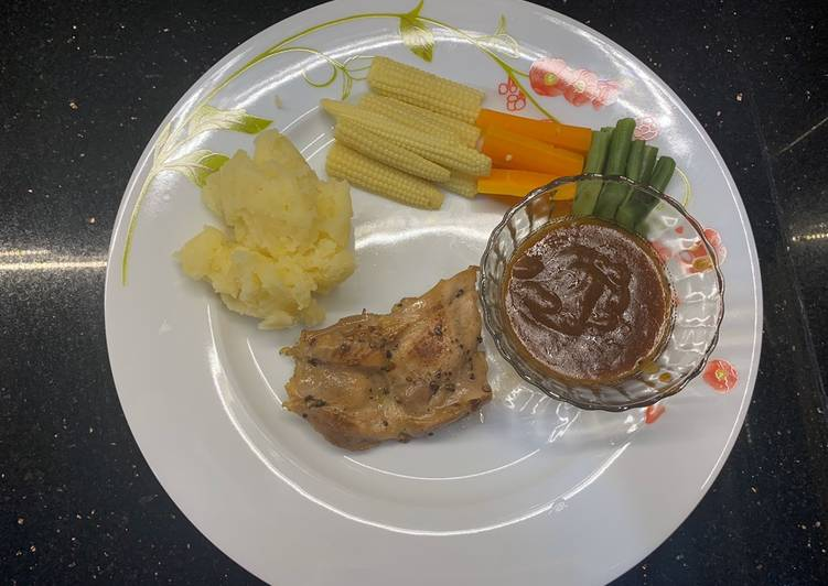 Chicken steak bbq sauce praktis dan yummy