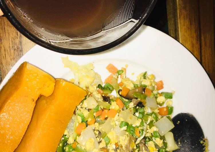 Cơm keto giảm cân🥗+ nước đậu đen và gạo lứt rang