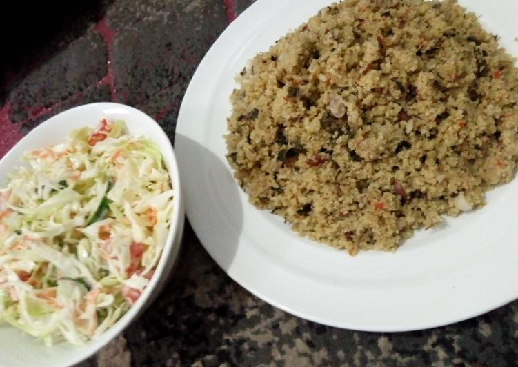 African Dish Traditional Dambun couscous by Fatima Umar Ali