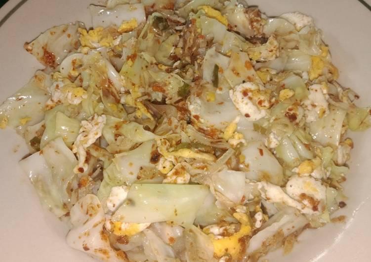 Tumis Kol & Telur Pedas