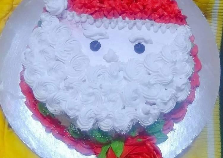 Santa chocolate cake
