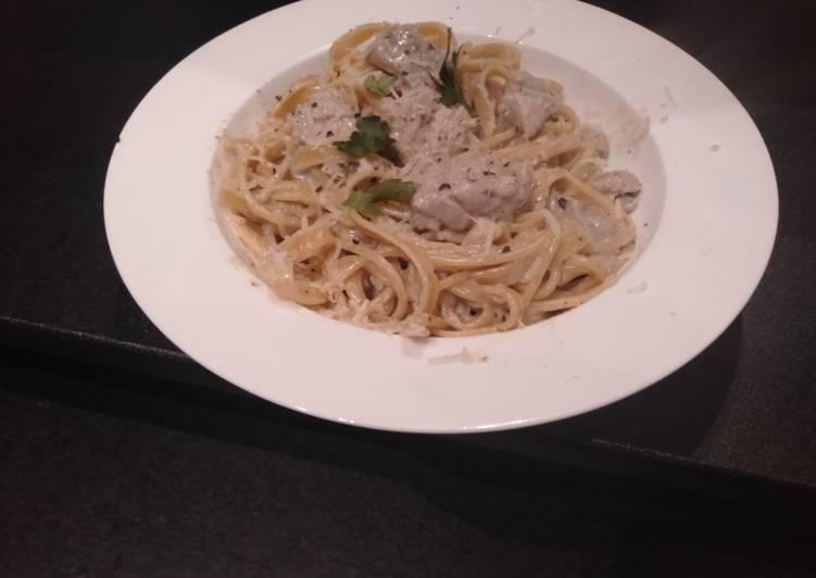 Recipe: Delicious Creamy Tuna pasta