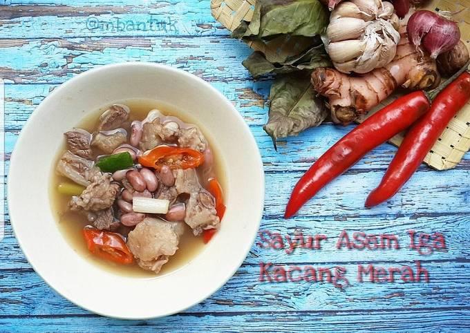 sayur asem iga kacang merah (angeun kacang) - resepenakbgt.com