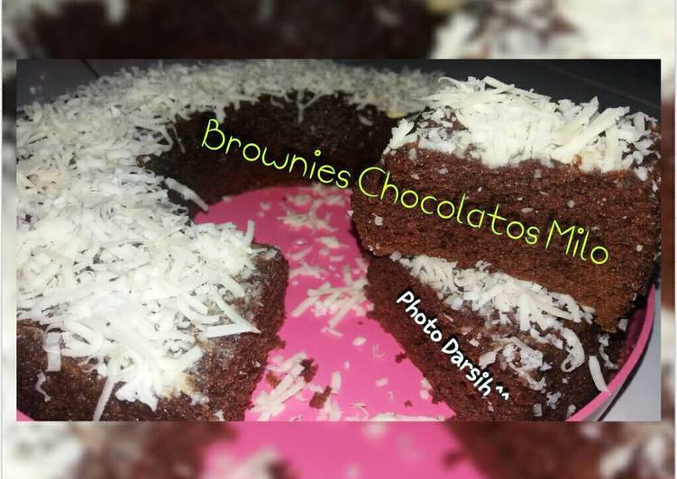Brownies kukus coklat sederhana tapi nikmat ☺😊