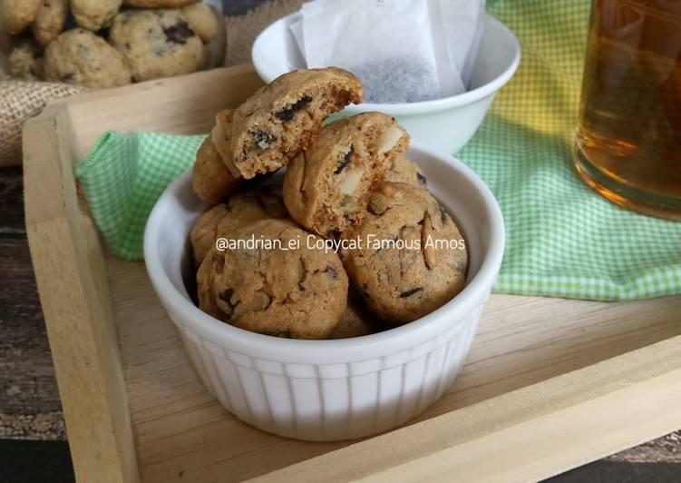 Resep Famous Amos Crispy Cookies Copycat Oleh Bunda Ei Cookpad