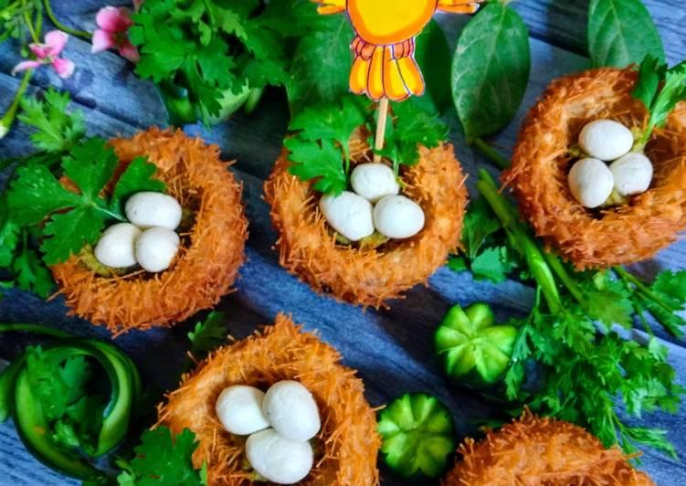 30 Minute Recipe of Award Winning Potato Bird Nest