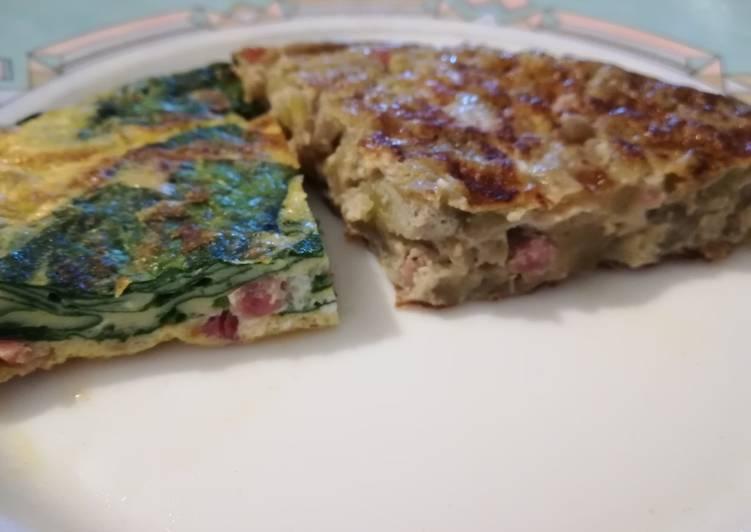 Dos Tortillas De Verduras Rápidas Y Sanas Receta De La