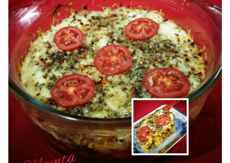 Vegetable Bread lasagna