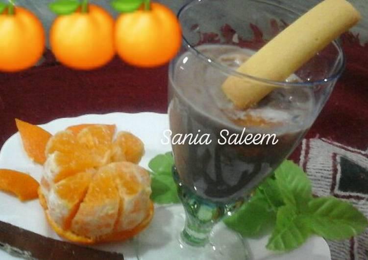 Steps to Make Any-night-of-the-week Orange Chocolate Shake