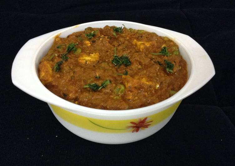Mutter paneer/green peas cottage cheese curry