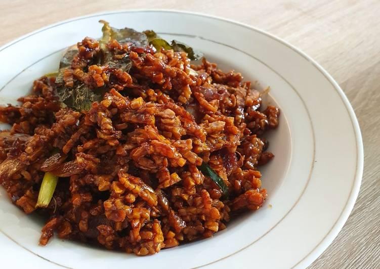 Kering Tempe / Tempe Orek temen makan Nasi Kuning
