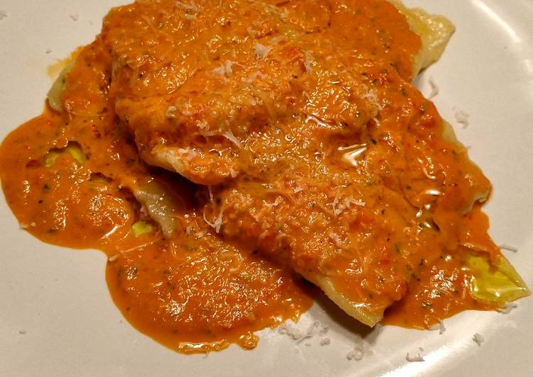 Goat Cheese Pancetta Ravioli with a Spicy Citrus Sauce