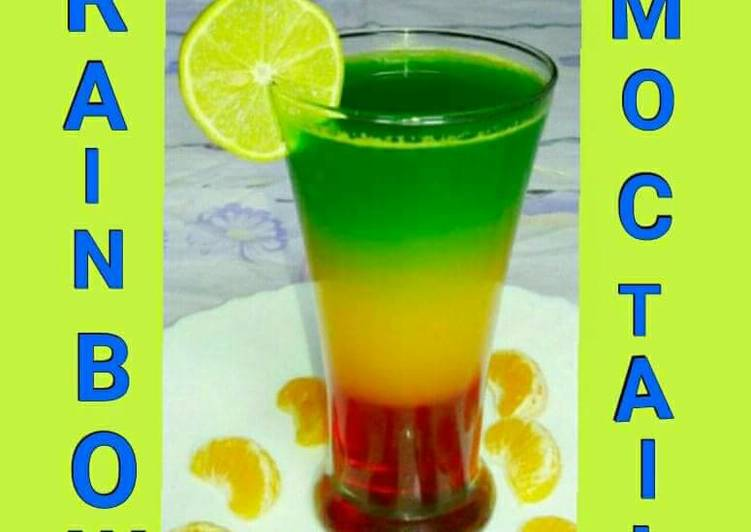 Recipe of Super Quick Homemade Rainbow Mocktail