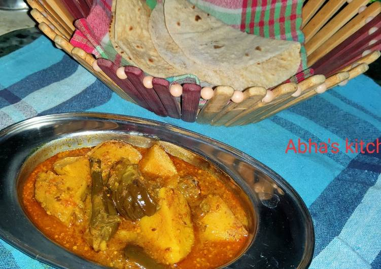 What is Dinner Easy Refreshing Aloo baigun jhol