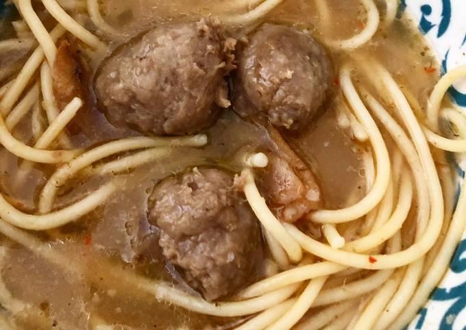 Resep Bakso Spaghetti Simple yang Lezat