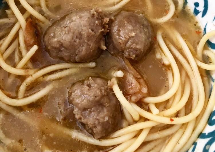 Bakso Spaghetti Simple