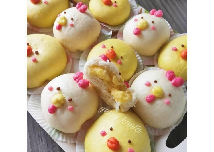 Bakpao Telur Asin (salted egg pao)