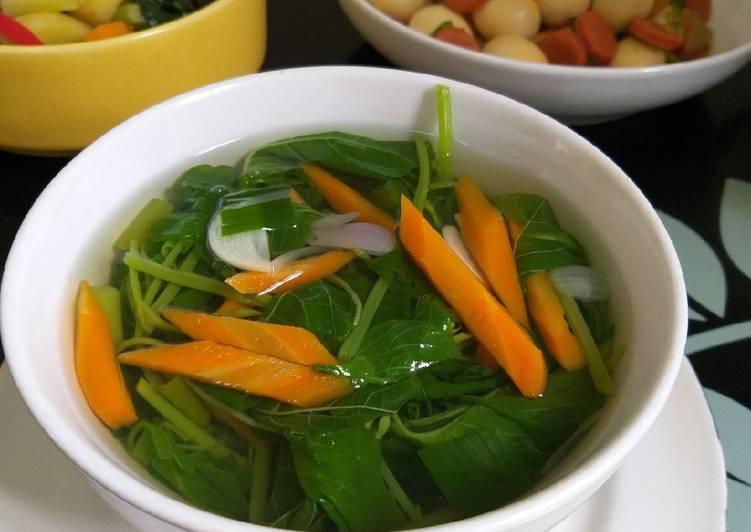 Sayur bayam dan wortel