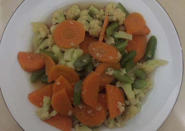 Tumis Kembang kol, buncis, wortel