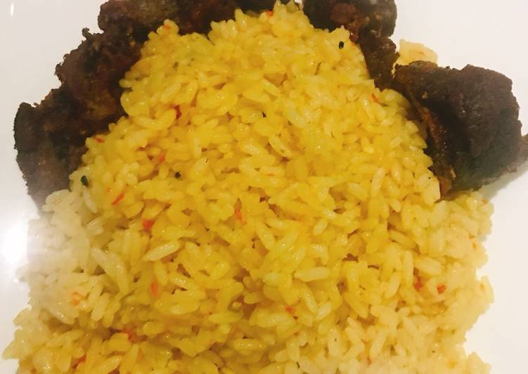 Recipe: Appetizing Curry rice and fried beef