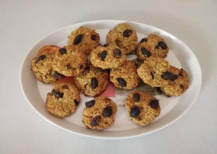 Healthy Banana & oats cookies