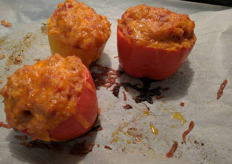 How to Prepare Speedy Risotto Stuffed Peppers