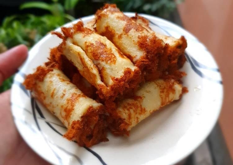 26. Beef Floss Roll dengan Roti Tawar