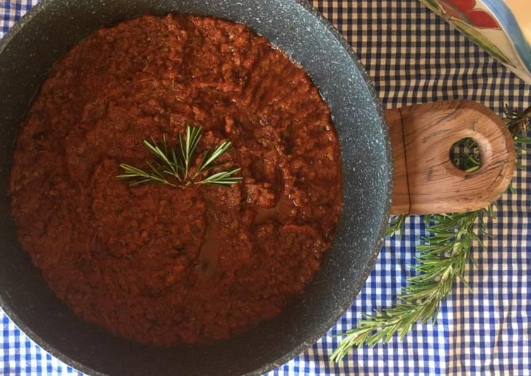 Ricetta Sugo di carne grigliata fatto con gli avanzi del barbecue 🌷