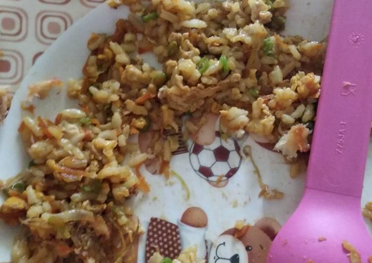 Cara membuat Mpasi (1yr Old +): Nasi Goreng Sehat Anti GTM